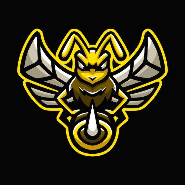 蜂のマスコットのロゴ