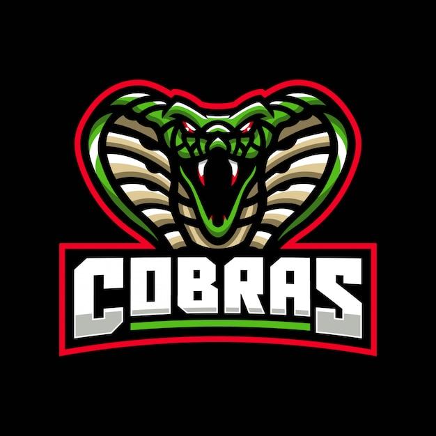 Шаблон логотипа талисмана кобры