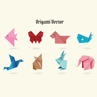 折り紙のベクトル