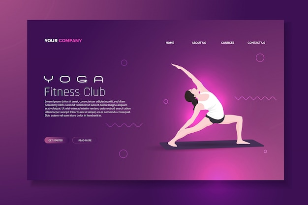 Шаблон целевой страницы йоги
