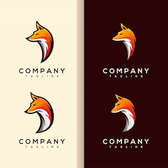 フォックスヘッドのロゴのベクトル