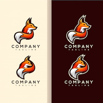 キツネの尾のロゴのベクトル