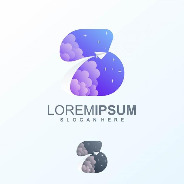Космический дизайн логотипа