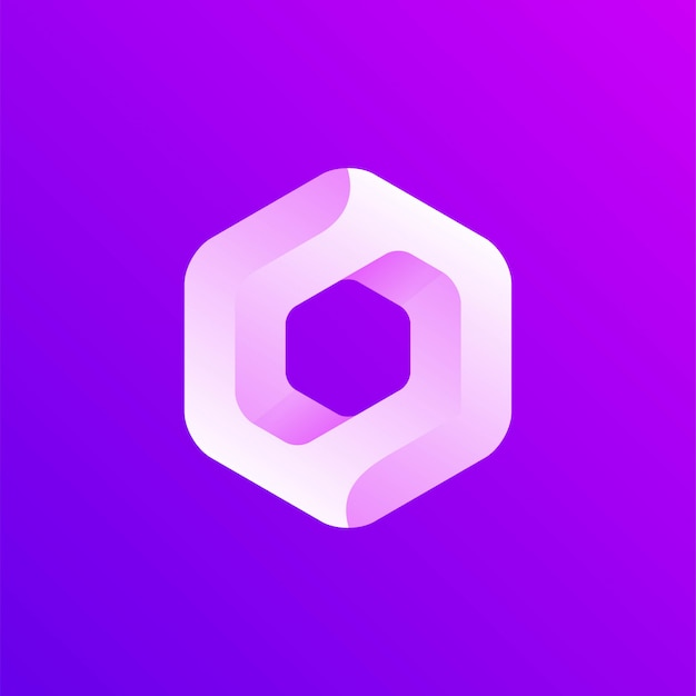 六角形のアイコンのロゴ