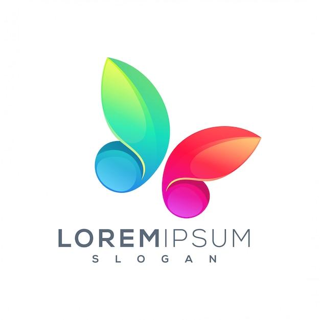 Дизайн логотипа бабочки