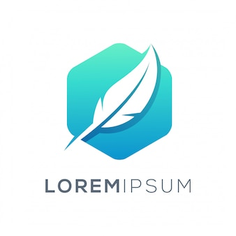 Перо дизайн логотипа