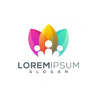 Шаблон логотипа людей