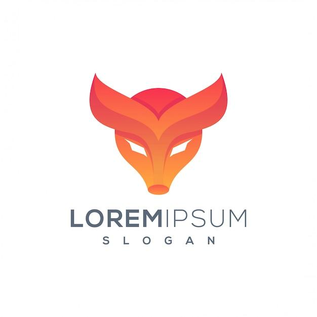 Шаблон логотипа голова коровы