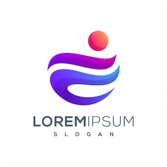 Красочный логотип в социальных сетях