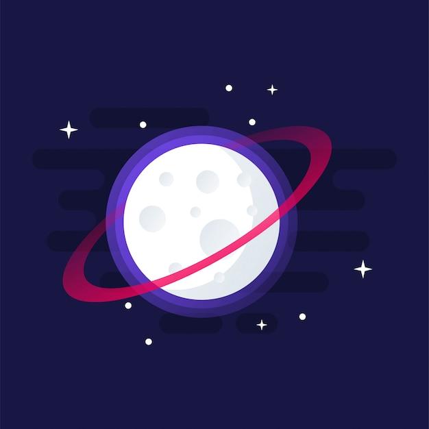 Потрясающий луна клип-арт дизайн
