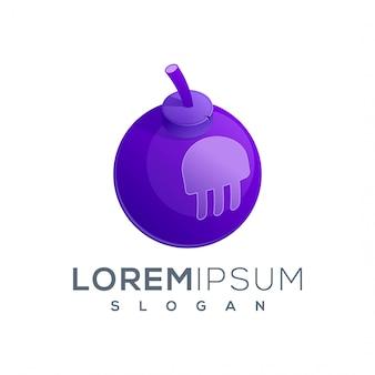 Желе бомба логотип значок готов к использованию