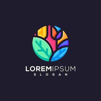 Значок логотипа в социальных сетях готов к использованию