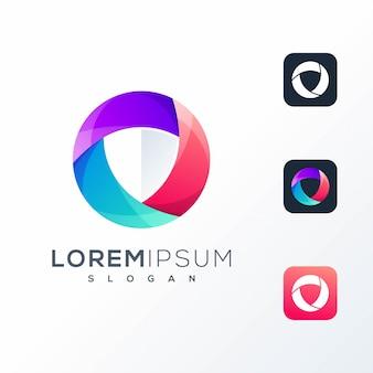 Красочный технический логотип