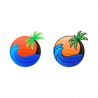 Дизайн логотипа палм-бич