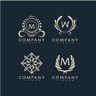 プレミアムベクトルエレガントな飾りロゴ