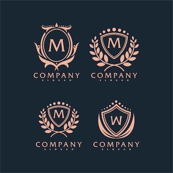 プレミアムベクトル飾りロゴ