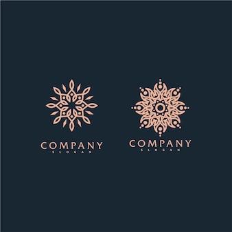 プレミアムベクトルアウトラインと飾りロゴ