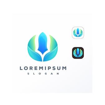 Абстрактный красочный логотип