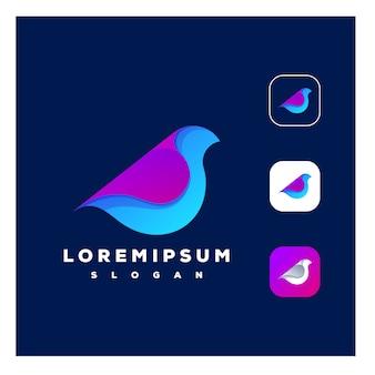 カラフルな鳥のロゴ