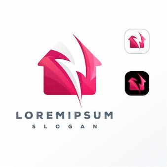 Красочный домашний электрический дизайн логотипа
