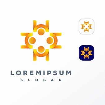 Красочный абстрактный дизайн логотипа