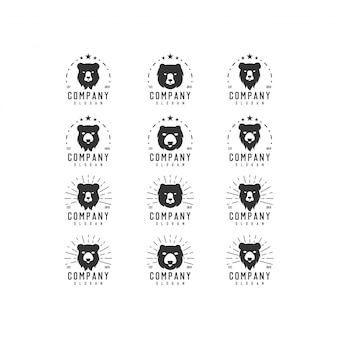 Медведь винтажная коллекция логотипов
