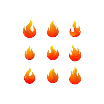 Огненный логотип