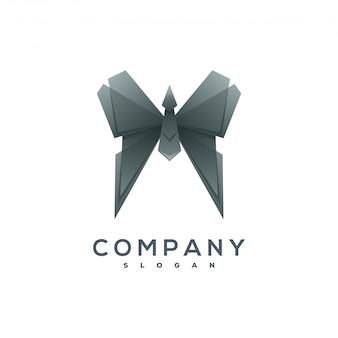 Бабочка оригами стиль логотип