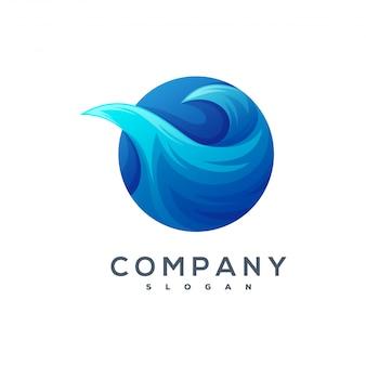 Волна логотип вектор