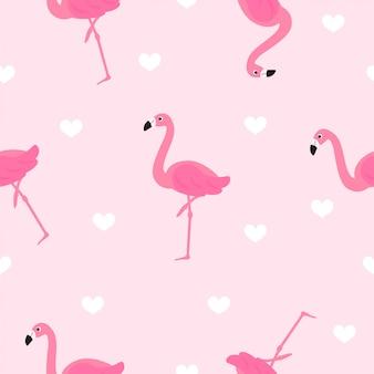Фламинго бесшовные модели вектор.
