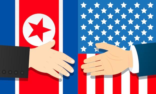 朝鮮民主主義人民共和国とアメリカの協力