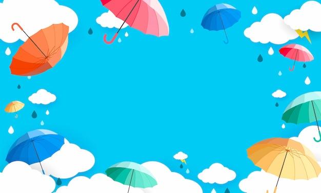 雨の季節の背景