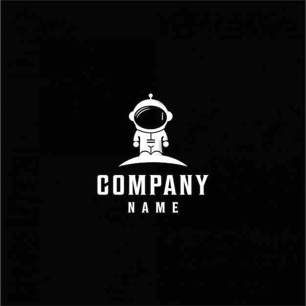 ミニマリストベクトル宇宙飛行士ロゴ