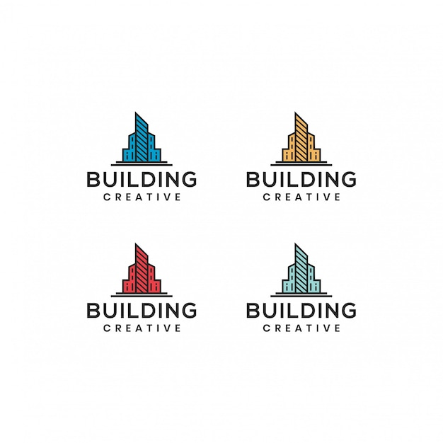 建物のロゴベクトルテンプレート