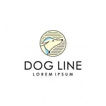 犬ラインのロゴのテンプレート