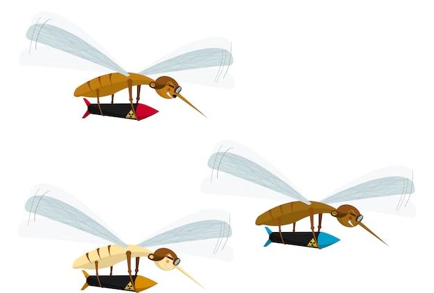 蚊によって伝染する病気