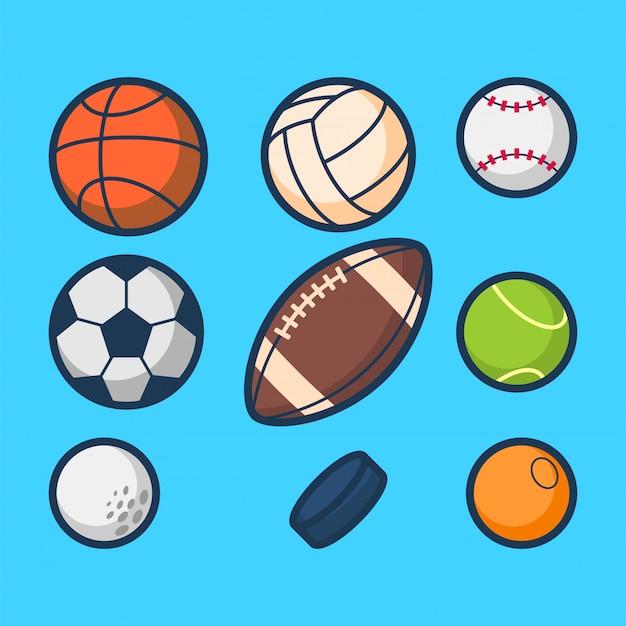 スポーツボールの図