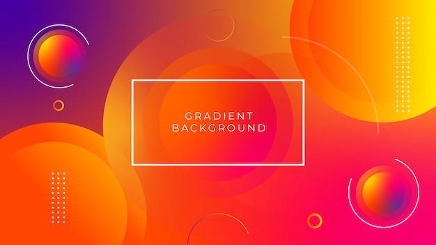 Абстрактный оранжевый и фиолетовый фон