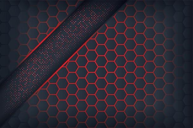 Темные абстрактные фоны с красным перекрытием.