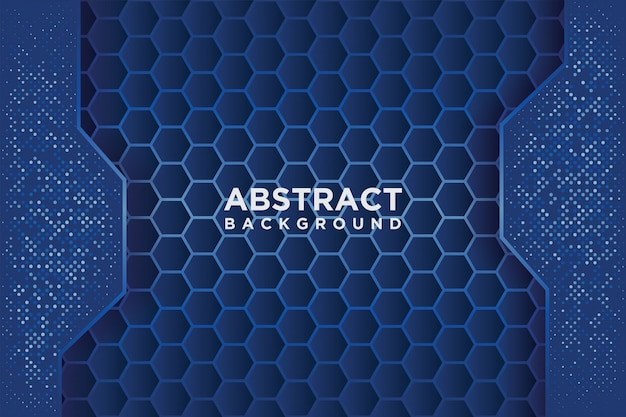 青いオーバーラップを持つ抽象的な六角形パターン。
