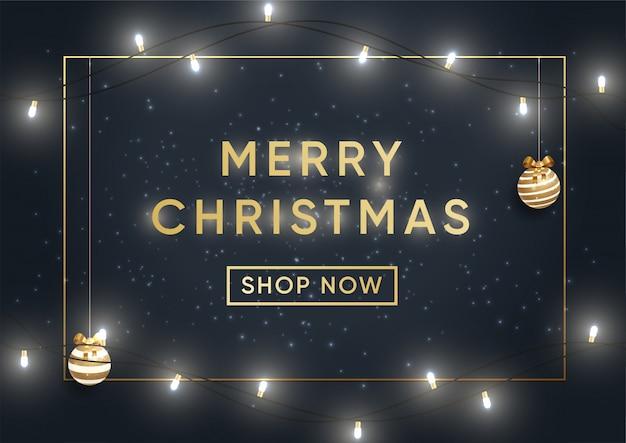 クリスマスショッピング販売バナーベクトルテンプレート
