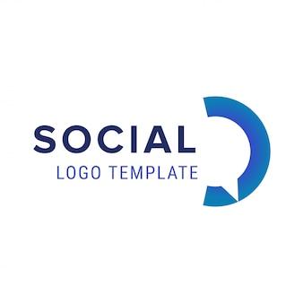 社会的なロゴ。ベクトルチャットロゴデザインテンプレート