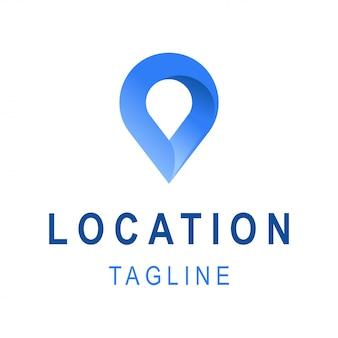 場所のアイコン。キャッチコピースペースを持つテンプレートビジネスロゴデザイン。旅行会社のための創造的なシンボル。