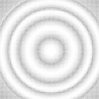 抽象的なハーフトーンサークル。グラデーションドット背景テンプレート。ポップアートのイラスト。