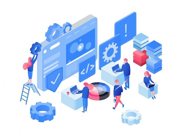Программное обеспечение, веб-разработка изометрии