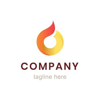 サークル会社のロゴデザイン。ビジネスアイデンティティとブランディングのための要素。