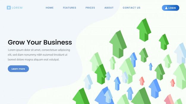 事業開発サービスのランディングページ