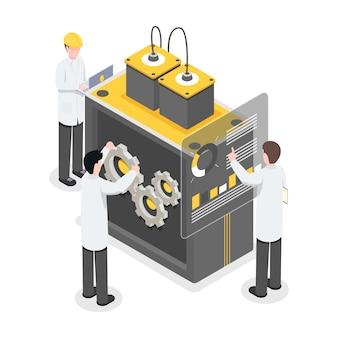 Исследователи, инженеры, работающие над технологиями, прорыв. люди, работающие над новыми технологиями