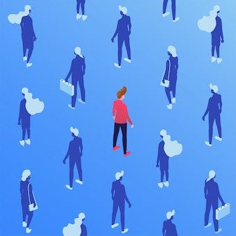 企業労働者等尺性シームレスパターン