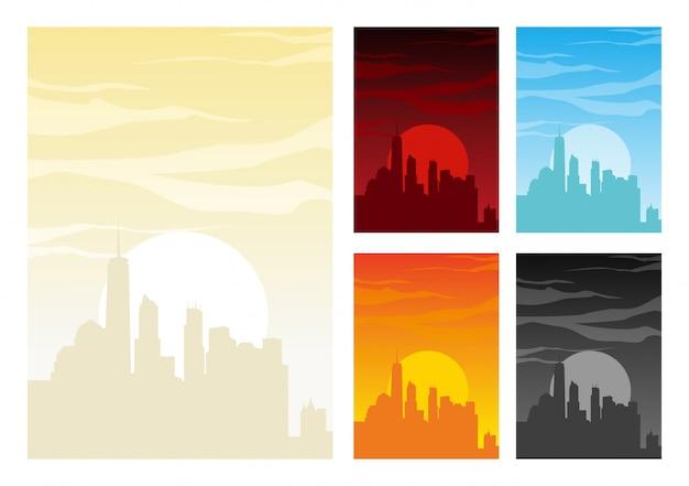 Вертикальный абстрактный фон горизонта с плавным градиентом